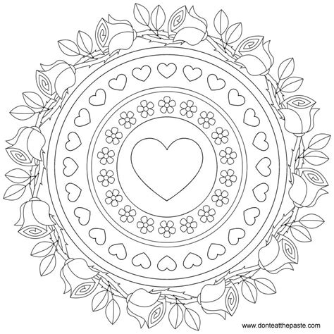 13 images of heart mandala coloring pages easy simple