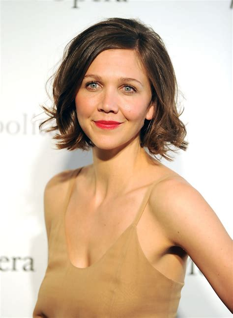The Scoop On Maggie Qs Carpet Hair by Maggie Gyllenhaal Hairstyles For Faces Stylebistro