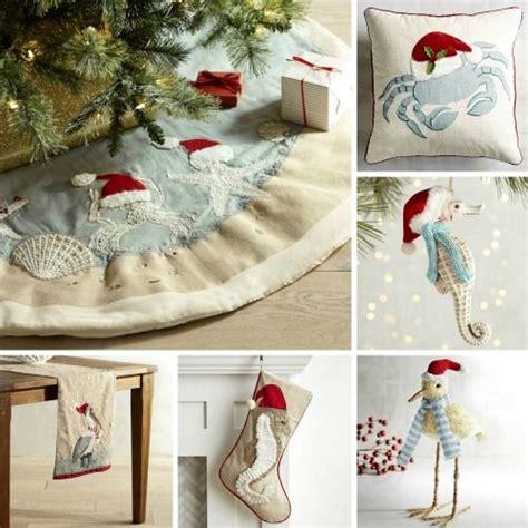 beach themed tree skirt i sea santa hats everywhere decorations with a coastal theme http www