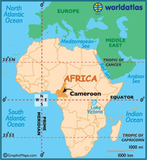 cameroon in world map cameroon map geography of cameroon map of cameroon