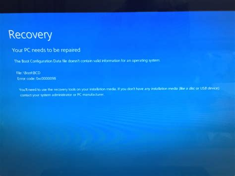 windows resetting error solved error message when booting after windows 10