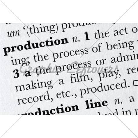 Production Word Dictionary Definition 183 Gl Stock Images | production word dictionary definition 183 gl stock images