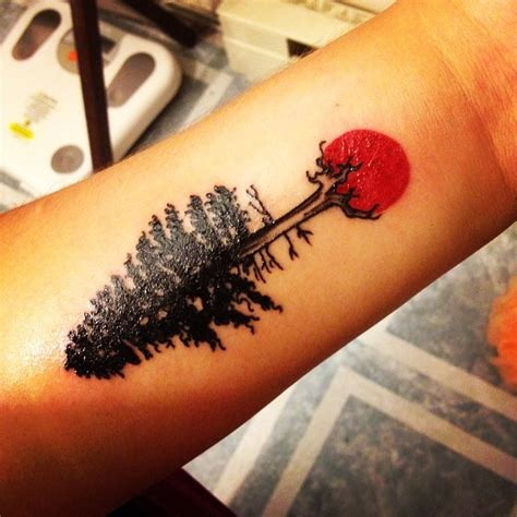 natural tattoo designs 30 simple and easy pine tree designs for