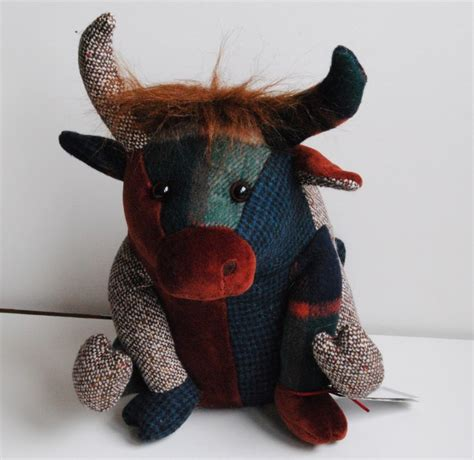 Patchwork Cow - designs patchwork tweed highland cow