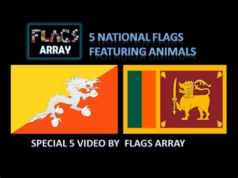 Flags Animals 5 national flags featuring animals