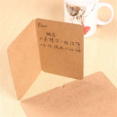 Folded Paper Cards - dhl wholesale 20 15cm kraft paper blank folded cards