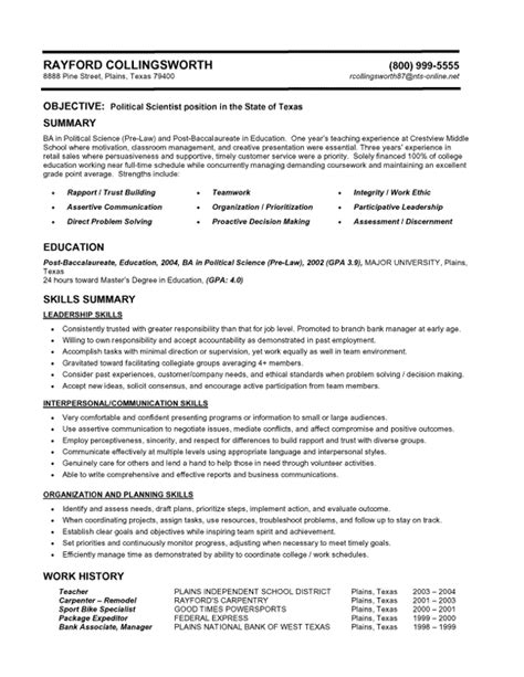writing sle for resume 10 best template collection resume styles writing resume