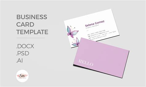 Business Card Template On Pages by Flowers Business Card Template Business Card Templates