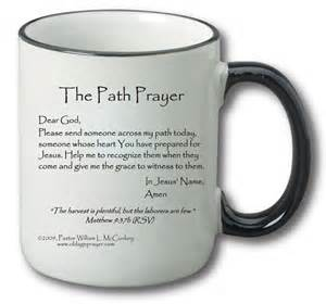 Beautiful Coffee Mugs morning prayer mug the path prayer the old age prayer