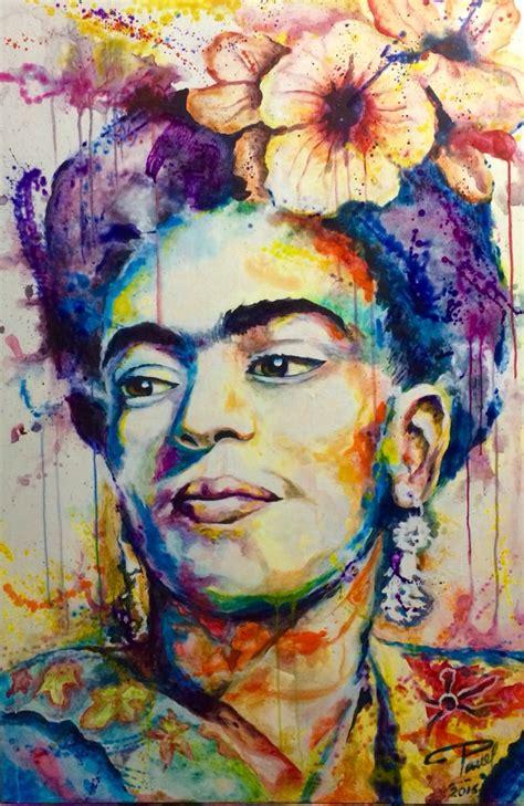 cuadros frida kahlo cuadro quot frida kahlo quot acr 237 lico sobre lienzo 120 x 80 cm art