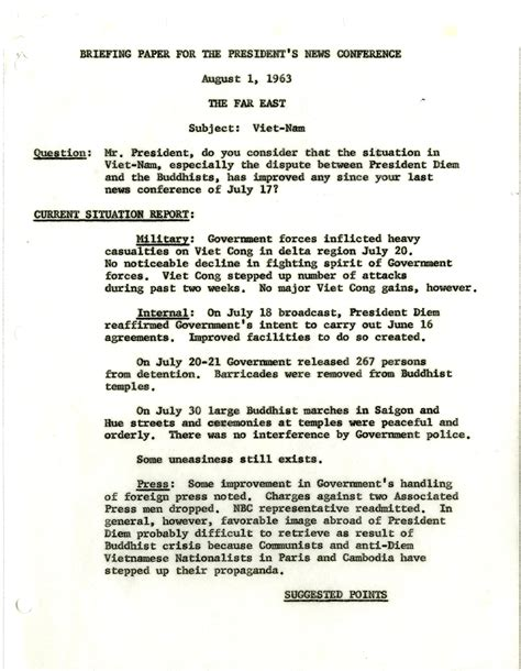 writing a briefing paper 8 1 63 briefing paper f kennedy presidential