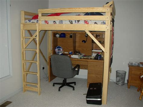 full size loft bed ideas diy  plans