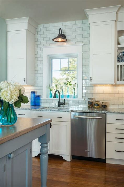 New Kitchen Lighting Farmhouse Style The Turquoise Home by Framed Kitchen Window Subway Tile Light Above Window Kitchens