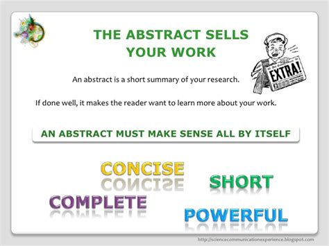What Makes A Scientific Paper - how to write a scientific abstract