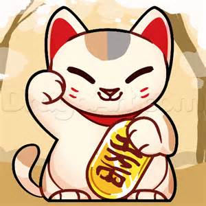 how to draw doodle cat 1 how to draw a lucky cat step by step japanese mythology