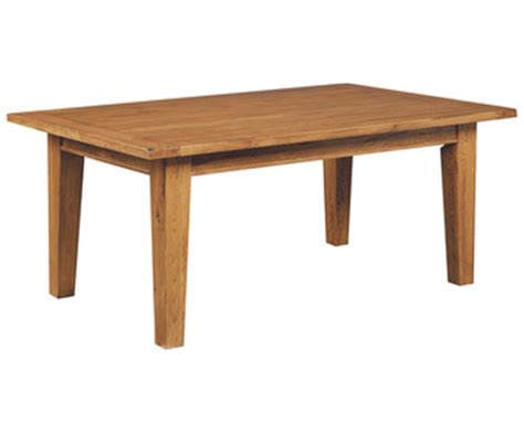 attic heirlooms rectangular leg dining table in oak by