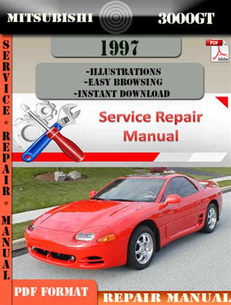 car manuals free online 1995 mitsubishi gto lane departure warning mitsubishi 3000gt 1997 digital factory repair manual download man