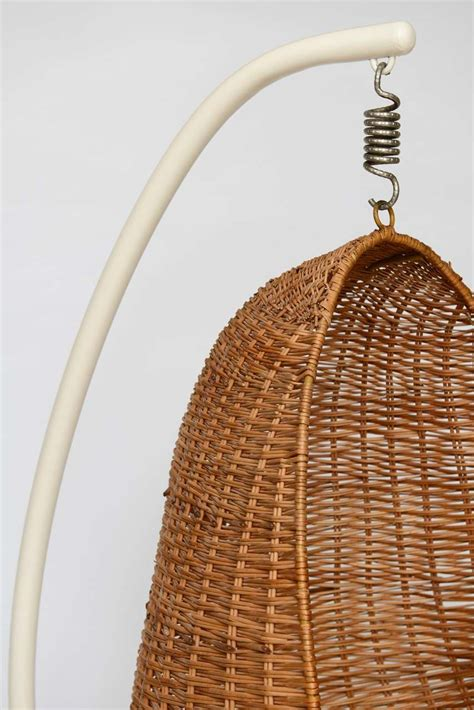 wicker hanging chair hanging wicker egg chair at 1stdibs