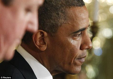 Shedding A Tear by Obama Cries When Asked About Benghazi During A Press