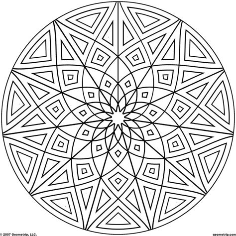 printable kaleidoscope coloring pages for adults kaleidoscope coloring pages geometrip com free