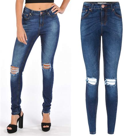 Knee Ripped Washed Premium Quality All Brand New new ripped distressed blue denim