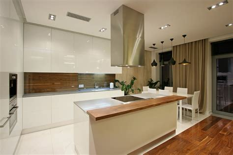 modern kitchen extractor fans interior design spacious city dwelling