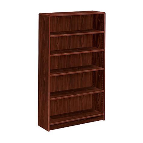 office depot bookcase hon radius edge bookcase 5 shelves mahogany by office depot officemax