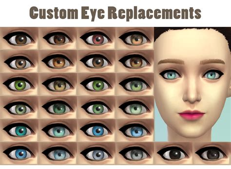 jsboutique hair 1 comes in all the default ea hair custom eye replacements by jsboutique