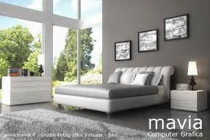ordinario Camere Da Letto Con Parquet #1: Camera_da_letto_matrimoniale_moderna_bianca_rendering_3d.jpg