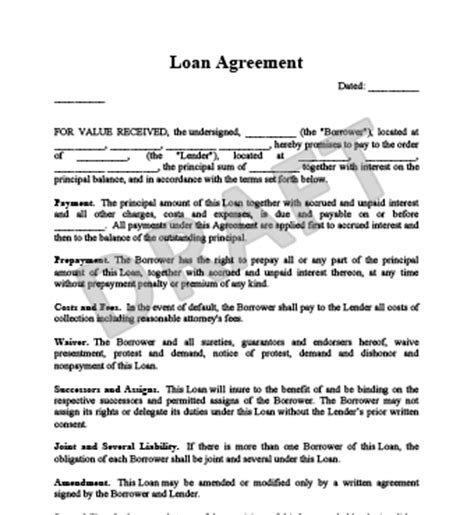 simple interest loan agreement template simple loan agreement template loan agreement template
