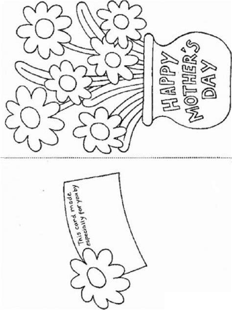 Printable Happy Mother S Day Greeting Card Template Coloring Pages Pages Card Templates