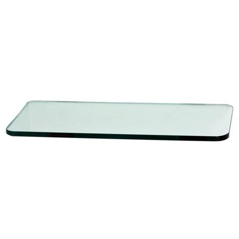 floating glass shelves 3 8 in rectangle glass corner