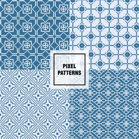 pixel pattern ai pixel patterns design vector free download