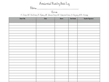 printable ar reading log accelerated reader book log management sheets by free to