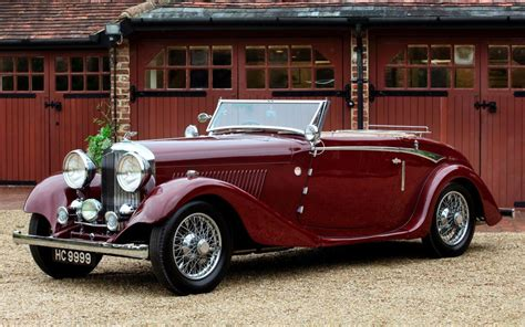 vintage bentley coupe 1934 bentley drophead coupe hd desktop wallpaper