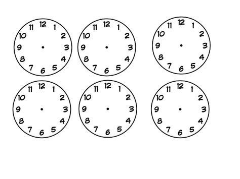 blank clock template search results for blanck clock template