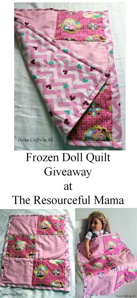 Quilt Giveaway - frozen doll quilt giveaway at the resourceful mama home crafts by ali