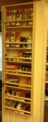 pantry door storage spice rack projects completed