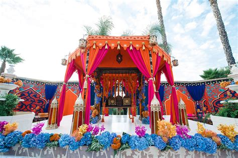Large Party Dinner Ideas - raj tents indian theme authentic colorful and opulent