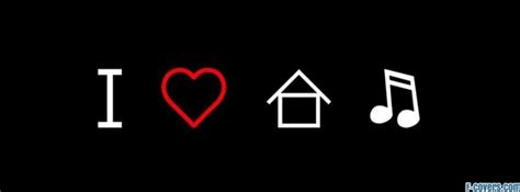 house music symbol i love house music house music symbol facebook cover timeline photo banner for fb