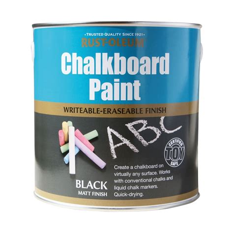 chalkboard paint remover rust oleum black chalkboard paint 2 5l at homebase co uk