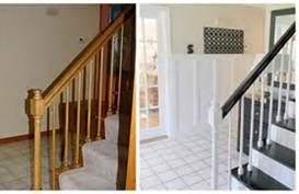 refinish banister railing stair makeover refinishing banister stair parts blog
