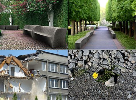 designboom urban furniture recycled aggregate westside environmental