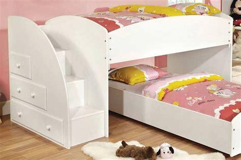 furniture of america merritt bunk bed in white