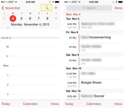 Calendar Ios Get The List View Back In Ios 7 S Calendar App Ios Tips