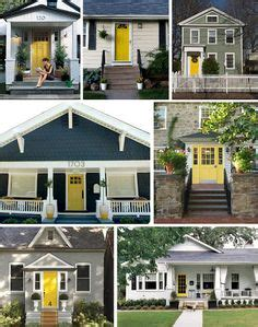 Yellow Notice On Front Door Say A Prayer For You White Trim Colour Pop And House Colors