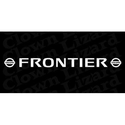 nissan frontier logo nissan frontier with logo windshield decal sticker 3 x 38