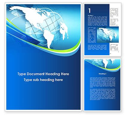 presentation cover template word company profile word