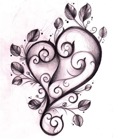 heart pattern tattoo flower and heart tattoo designs clipart best