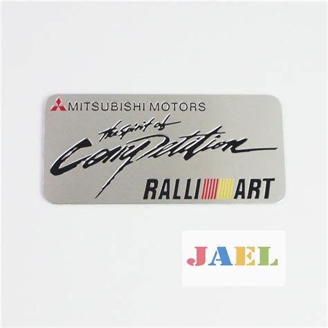 Emblem Tempel Ralliart Aluminium auto 3d aluminum ralliart competition emblem decal badge sticker for mitsubishi on